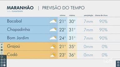 Veja as variações das temperaturas no Maranhão - Confira a previsão do tempo nesta terça-feira (7) em São Luís e também no interior do estado.