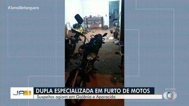 Polícia prende duas pessoas suspeitas de furtos de motocicletas em Goiânia - Segundo investigadores, suspeitos haviam se especializado no crime.