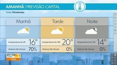 Rajadas de vento podem chegar aos 80 Km/h no estado de SP - Frente fria trará chuva na manhã de quinta-feira e frio, entre a tarde e a noite.