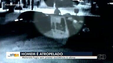 Vídeo mostra momento em que homem é atropelado em Goiânia - Motorista fugiu sem prestar socorro.