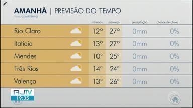 Termômetros devem voltar a subir neste sábado no Sul do Rio - Meteorologia prevê sol e tempo seco para este fim de semana.