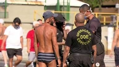 Fim de semana pelo Brasil foi de multas para quem não usou máscara - Fiscalização tenta evitar que a população saia às ruas sem máscaras. Foi assim no sábado (11) à noite e neste domingo (12).