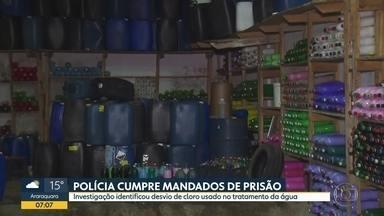 Quadrilha desviava produto químico usado no tratamento de água - Polícia Civil cumpriu mandados de prisão e busca e apreensão.