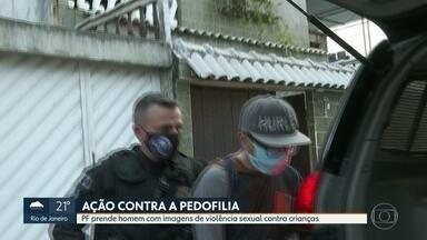 Polícia Federal prende homem com imagens de violência sexual contra crianças - O homem foi preso em flagrante em Campo Grande. A princípio a Polícia Federal foi até o local para cumprir mandados de busca e apreensão, mas os policiais encontraram grande quantidade de material contendo pedofilia.