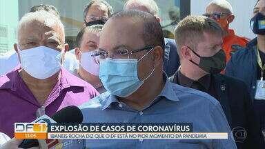 Governador diz que o DF está no pior momento da pandemia - Ibaneis Rocha disse que as pessoas vão continuar indo para as ruas e se infectando. Mesmo sabendo disso, o GDF continua liberando a reabertura de mais setores da economia. Nós já passamos dos 72 mil casos de coronavírus.