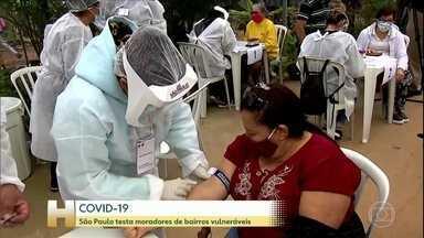 Coronavírus: São Paulo testa moradores de bairros vulneráveis - O objetivo da testagem é tomar medidas preventivas e fazer o acompanhamento de pessoas infectadas.