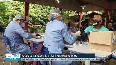 Unidade descentralizada sai do bairro Prainha e vai para o bairro Sta. Clara, em Santarém - Pessoas com sintomas gripais devem ser atendidas na escola Fluminense.