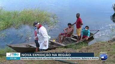 Navio hospital Abaré atenderá a comunidades de Santarém, Belterra e Aveiro - Veja o cronograma na nova expedição do barco pela região.