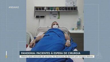 Pacientes estão na fila de espera do SUS por cirurgia no AM - Parentes de pacientes denunciam demora por cirurgias eletivas.