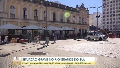 Rio Grande do Sul já contabiliza 1.060 mortes pela COVID-19 - Estado contabiliza mais de 40 mil casos e sistema de saúde está próximo do colapso