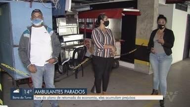 Ambulantes de Santos sofrem sem previsão para retomar atividades - Eles estão fora do plano de retomada da economia e acumulam prejuízos durante pandemia.