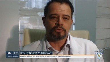 Médico Fábio Atz fala sobre a redução de cirurgias em meio a pandemia - Urologista fala sobre queda no número de procedimento cirúrgicos.