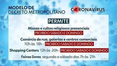 Modelo de decreto da Região Metropolitana de Curitiba flexibiliza várias atividades - Prefeitos de Curitiba e Região se reuniram para discutir esse modelo único a ser seguido pelas cidades, mas o protocolo não é obrigatório.