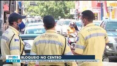 Mais ruas são interditadas no Centro de Teresina - Mais ruas são interditadas no Centro de Teresina