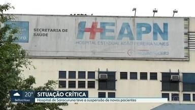 Hospital de Saracuruna não vai receber novos pacientes - O hospital Adão Pereira Nunes não vai receber novos pacientes, segundo a organização social que administra a unidade. O motivo seria uma dívida milionária do governo do estado com a administradora.