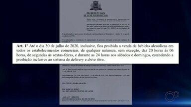 Rio Preto vai restringir venda de bebidas alcoólicas e funcionamento de mercados - Diante do aumento expressivo do número de casos positivos de coronavírus, a prefeitura de São José do Rio Preto (SP) divulgou que vai restringir o funcionamento de hipermercados e supermercados e a venda de bebidas alcoólicas.