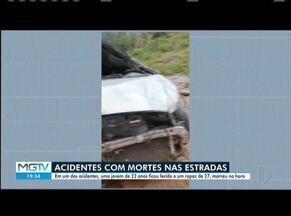 Três jovens morrem em acidentes na BR-342 - Em um dos acidentes, motorista perdeu controle da direção em uma curva e caiu em uma ribanceira.