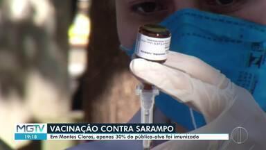 Apenas 30% do público-alvo foi imunizado contra o sarampo em Montes Claros - Prefeitura tem investido em novas estratégias para estimular a vacinação.