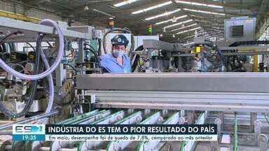 Indústria do ES tem o pior resultado do país no mês de maio, diz IBGE - Confira na reportagem.