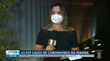 63.939 casos de coronavírus são confirmados na Paraíba - 23.695 pessoas já conseguiram se recuperar da Covid-19 no Estado.