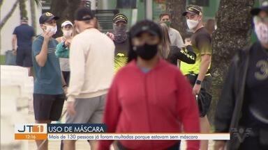 Mais de 130 pessoas já foram multadas por estar sem máscara em Santos - Apesar da obrigatoriedade de máscara, alguns moradores ainda descumprem regra.