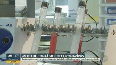 Covid-19: região de Campinas registra queda no número de exames por medo de contágio - Associação Brasileira de Medicina Diagnóstica mostram que, na região de Campinas (SP), essa queda chega a 60%.