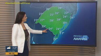 Sábado (17) é de sol e altas temperaturas no RS - Faixa Sul pode ter pancadas fracas de chuva.