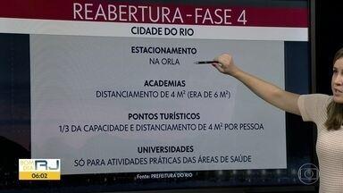 Fase 4 da reabertura começa no Rio - Quatro regiões terão bloqueios para evitar aglomeração.