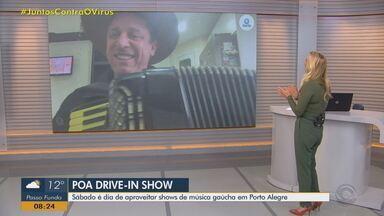 Músico João Luiz Corrêa se apresenta no Poa Drive-in Show neste sábado - Evento acontece no estacionamento do Aeroporto Salgado Filho.