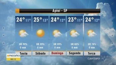 Confira a previsão do tempo para essa sexta-feira - Dia deve ser de sol e temperaturas amenas na Baixada Santista.