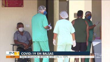 Taxa de ocupação de leitos de UTI volta a 100% em Balsas - A repórter Ana Paula Cardoso tem mais informações.