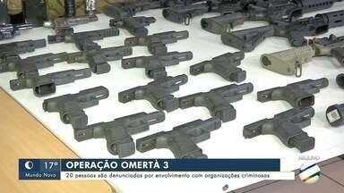 Operação Omertà 3: 20 pessoas são denuncias por envolvimento com organização criminosa - Operação Omertà 3: 20 pessoas são denuncias por envolvimento com organização criminosa