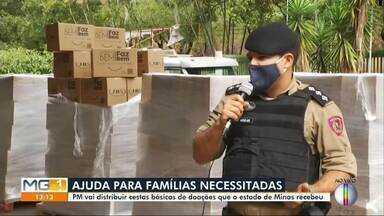 PM de Ipatinga distribui cestas básicas para 136 municípios - Objetivo é ajudar as famílias mais necessitadas do estado.