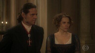 Leopoldina enfrenta Thomas - A princesa acusa Thomas de manter Anna em cárcere privado e deixa o comandante irritado