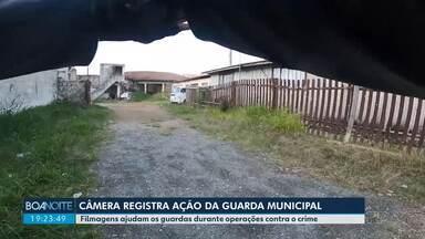 Câmera registra ação da Guarda Municipal em Curitiba - As filmagens ajudam os guardas durante operações contra o crime.