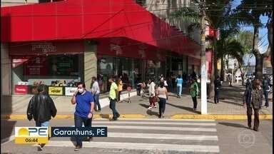 Parques são reabertos e comércio volta a funcionar em Garanhuns - Cidade, no Agreste, ainda não avançou até a etapa atual do plano da Covid-19