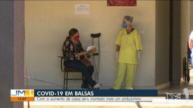 Por conta do aumento no número de casos de Covid-19, ambulatório será montado em Balsas - A cidade está com 100% dos leitos para a doença ocupados.