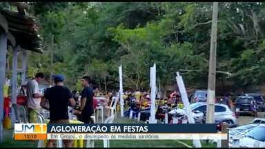Polícia flagra pessoas aglomeradas em festas em Grajaú - A prática tem sido cada vez mais comum durante a pandemia em cidades do interior do Maranhão.