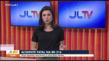 Duas pessoas morrem em acidente na BR-316, no Pará - Duas pessoas morrem em acidente na BR-316, no Pará
