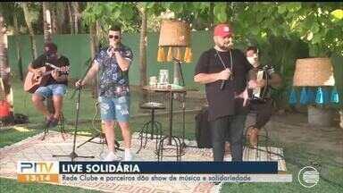 Live Soliária da Rede Clube foi um sucesso e conseguem muita doações - Live Soliária da Rede Clube foi um sucesso e conseguem muita doações