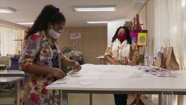 Tecido capaz de eliminar coronavírus começa a ser fabricado em larga escala no Brasil - O material pode ser usado em máscaras, em roupas, uniformes e toalhas de mesa.