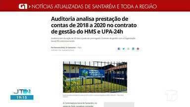 Prestação de contas de OS do HMS e UPA 24h é notícia em destaque no G1 Santarém e região - Acesse a reportagem completa no g1.com.br/tvtapajos