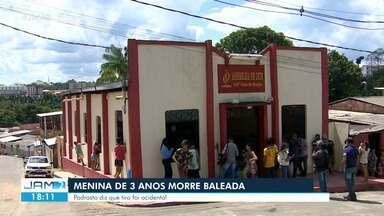 Menina de 3 anos morre baleada em Manaus - Padrasto diz que tiro foi acidental