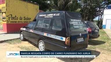 Família resgata corpo de vítima da Covid-19 para enterro no AM - Família resgata corpo de vítima da Covid-19 para enterro no AM