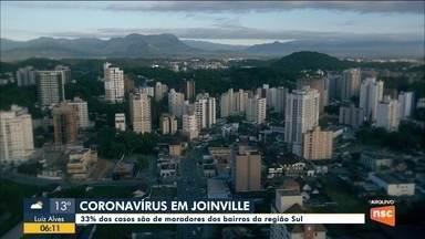 Joinville tem 33% dos casos de Covid-19 nos bairros da região Sul - Joinville tem 33% dos casos de Covid-19 nos bairros da região Sul