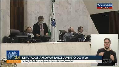 Deputados aprovam parcelamento de IPVA e isenção para carros apreendidos - Projetos foram aprovados durante sessão online da ALEP. Para o IPVA, projeto prevê o pagamento em até 6 vezes, com parcelas mínimas de R$106,60