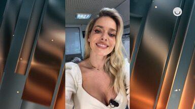 Monique Alfradique se arrumou sozinha para final do Mestre do Sabor - Ela aguarda início das gravações e mostra o look