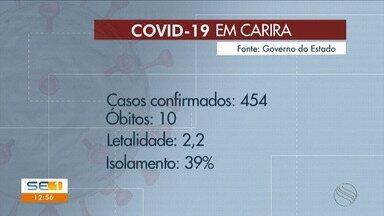 Município de Carira tem ações de prevenção ao novo coronavírus intensificadas - Número de casos e óbitos motivou medidas.