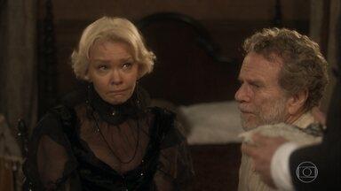 Greta faz chantagem emocional e envenena Wolfgang contra Diara - Diara se revolta e diz a Ferdinando que Greta está usando o botânico para separá-la do austríaco