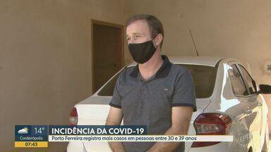 Covid-19: Porto Ferreiro registra mais casos de infectados em pessoas de 30 a 39 anos - Segundo último balaço divulgado, Porto Ferreiro (SP) registra 476 casos confirmados e 12 óbitos provocados pela doença.
